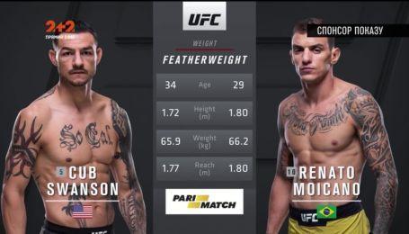 UFC. Каб Свонсон - Ренато Моикано. Видео боя