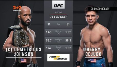 UFC. Деметриус Джонсон - Хенри Сехудо 2. Видео боя