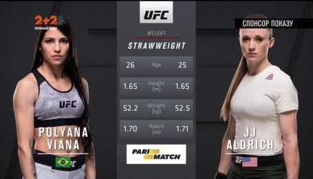 UFC. Полиана Виана - Джей-Джей Олдрич. Видео боя