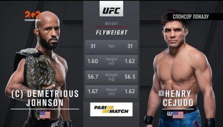 UFC. Деметріус Джонсон - Хенрі Сехудо 2. Відео бою