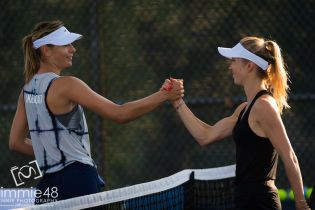Битва красавиц: Свитолина и Шарапова провели совместную тренировку перед турниром в Монреале