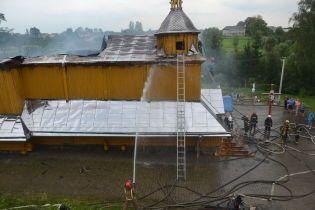 На Львовщине горела старинная деревянная церковь