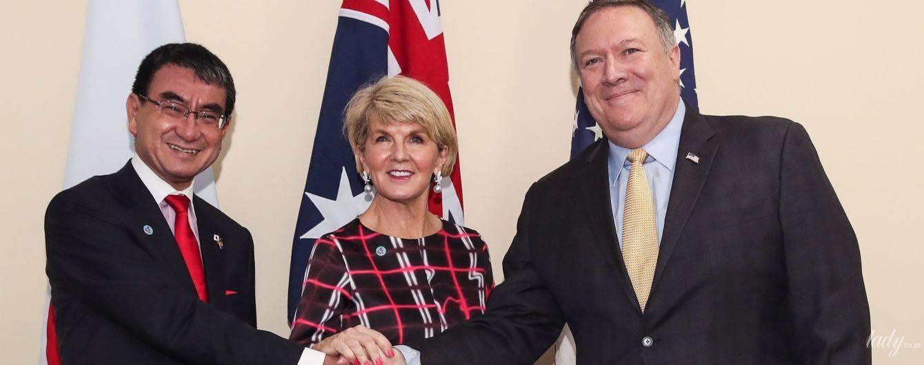 Оце ноги: міністр закордонних справ Австралії у короткій сукні прибула на офіційну зустріч