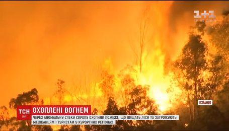 Сотні людей були вимушені евакуюватись через пожежі, що нищать ліси Європи