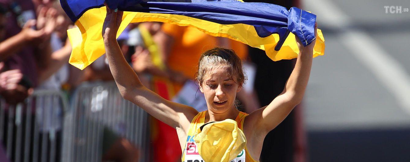Українка Цвілій з національним рекордом виграла другу медаль на чемпіонаті Європи з легкої атлетики