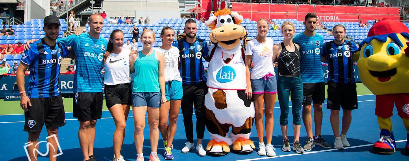 Світоліна та Цуренко зіграли у футбол на корті проти гравців професійного клубу