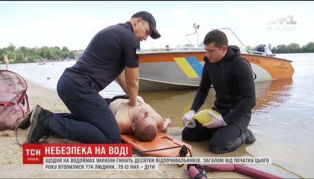 За сутки на украинских водоемах утонул 21 человек