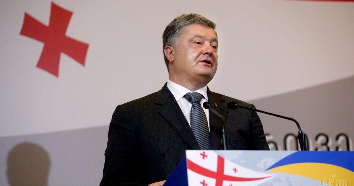 """""""Разом примусимо Кремль припинити агресію"""": Порошенко підтримав Грузію у річницю вторгнення РФ"""
