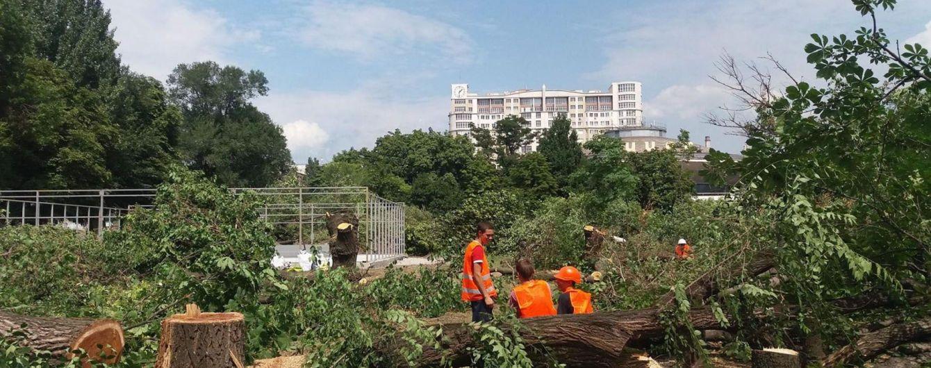 ТРЦ вместо деревьев. В Запорожье дрон снял ужасающие последствия вырубки сквера