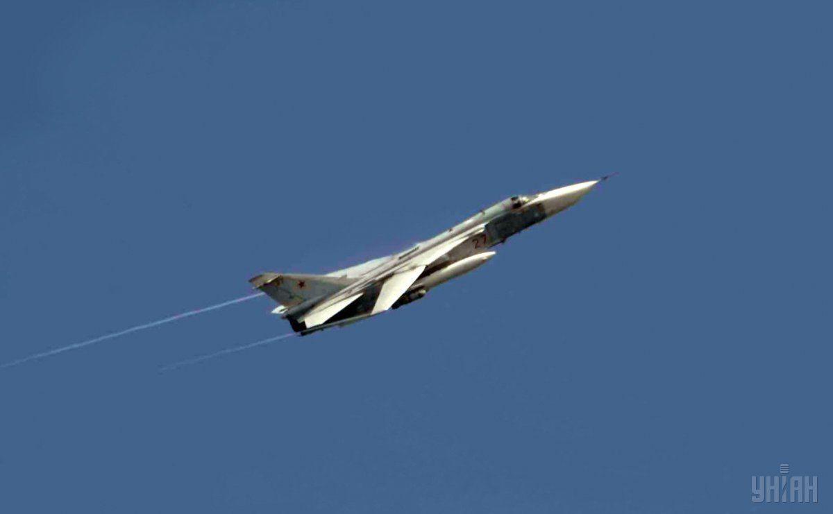 Російський літак бомбить місто Горі, 8 серпня 2008 р.