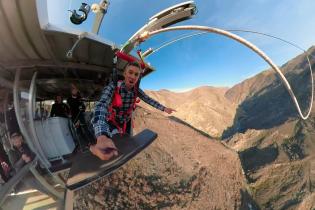 """В Новой Зеландии туристов запускают с гигантской """"катапульты"""" в каньон"""