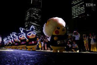 Pokemon GO: в Японии десятки пикачу устроили световой перформанс