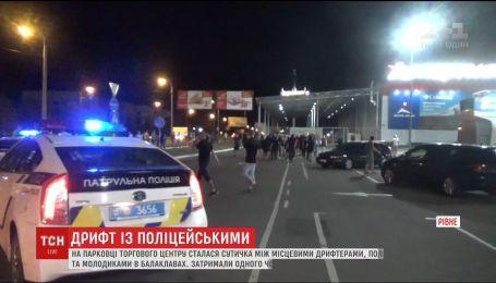 Драками и побитыми авто закончился протест против ночных гонок в Ровно