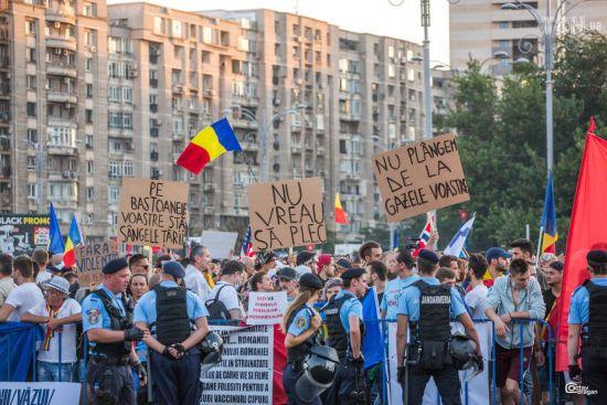 Протесты в Румынии: тысячи людей третий день требуют отставки правительства