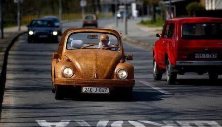 Пенсіонер витратив два роки, щоб зробити дерев`яний VW Beetle