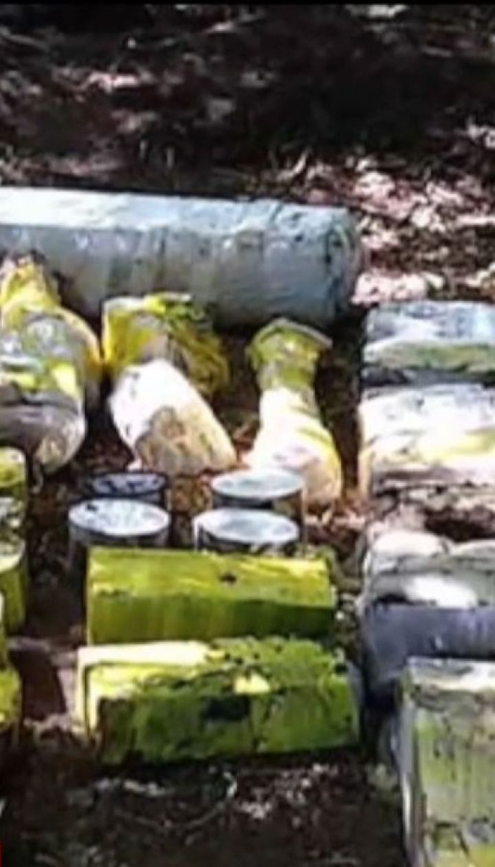На Днепропетровщине в лесополосе нашли арсенал оружия и боеприпасов