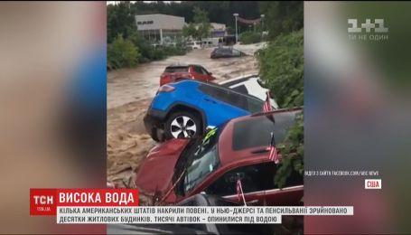 Потужні зливи затопили цілі міста у кількох американських штатах