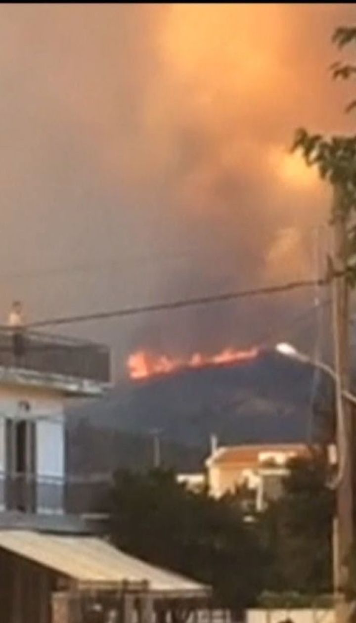 На грецькому острові Евбея спалахнули лісові пожежі