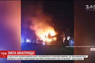 В США мужчина угнал самолет и направил его в дом с женой