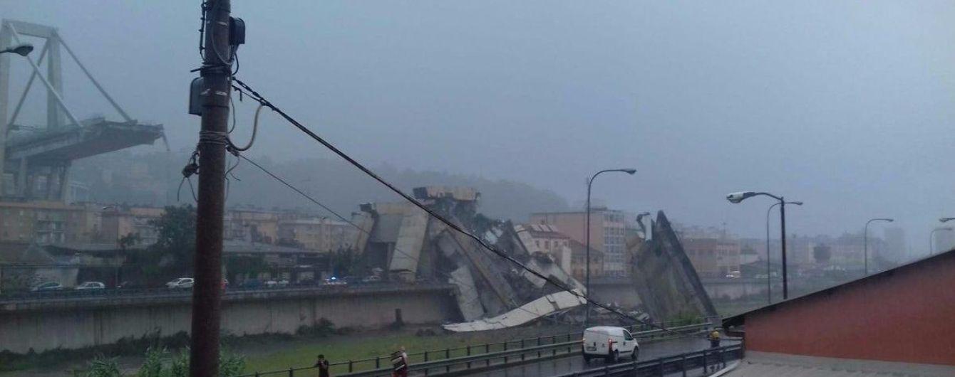 """Рятувальники повідомили про """"десятки"""" жертв унаслідок обвалу моста в Генуї"""