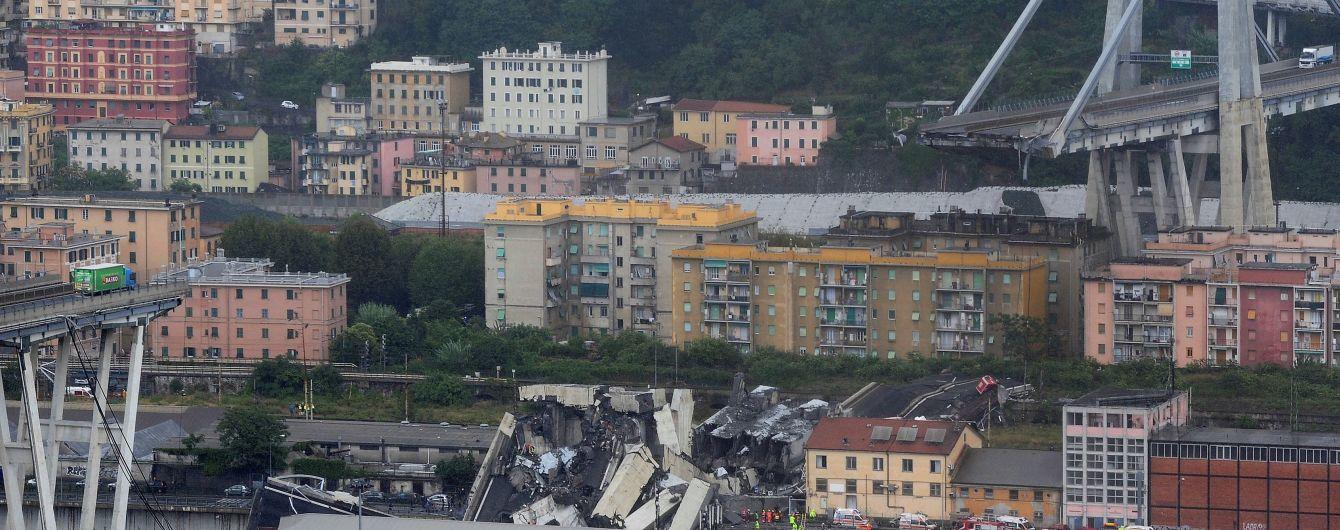 В итальянской Генуе обвалился автомобильный мост: все детали катастрофы