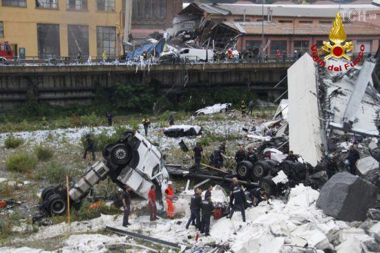Кількість загиблих у завалах моста в Генуї сягнула 22 і невпинно зростає - уряд Італії