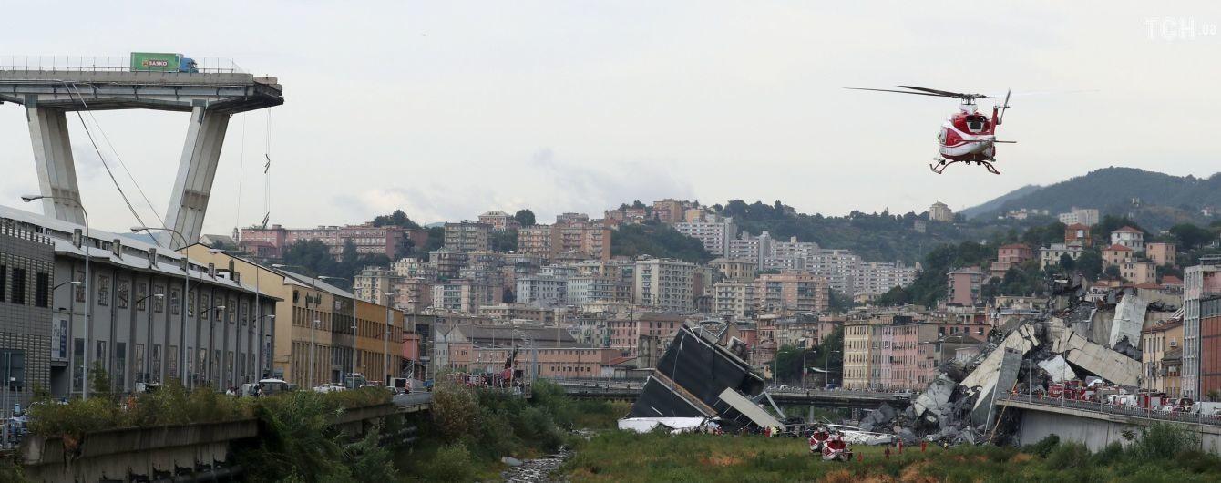 Обвал моста в Генуе с десятками жертв. Текстовый и видеоонлайн