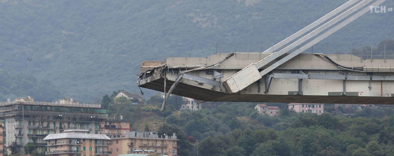 Вцілілі частини мосту в Генуї можуть упасти щомиті