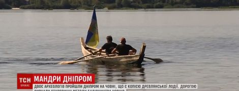 Веслоборд и лодка древлян: украинцы удивили уникальными путешествиями по Днепру