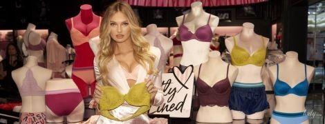 У міні-спідниці і бюстгальтері: Ромі Стридж на презентації білизняної лінії Victoria's Secret