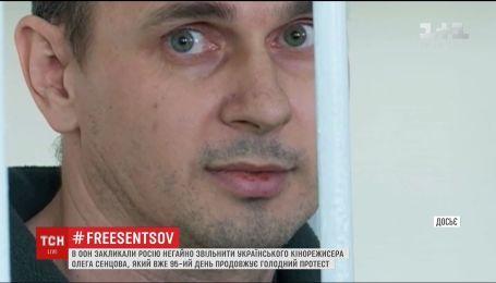 В ООН обеспокоены состоянием здоровья Сенцова и требуют его освобождения