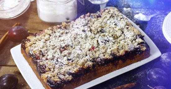 Дріжджовий пиріг зі сливами