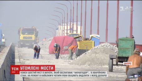 В Україні кожен шостий міст потребує термінового ремонту