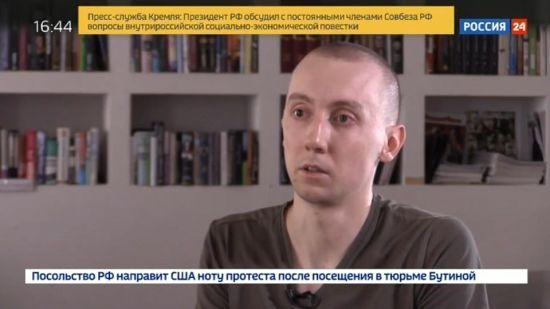 """Захопленого бойовиками журналіста Асєєва показали на російському ТБ. Він """"зізнався"""" у шпигунстві"""
