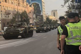 Из-за репетиции парада центр Киева снова захлебнулся в сплошных пробках