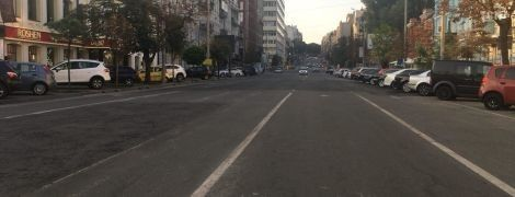 Провалы на улице Антоновича в Киеве заделали за одну ночь