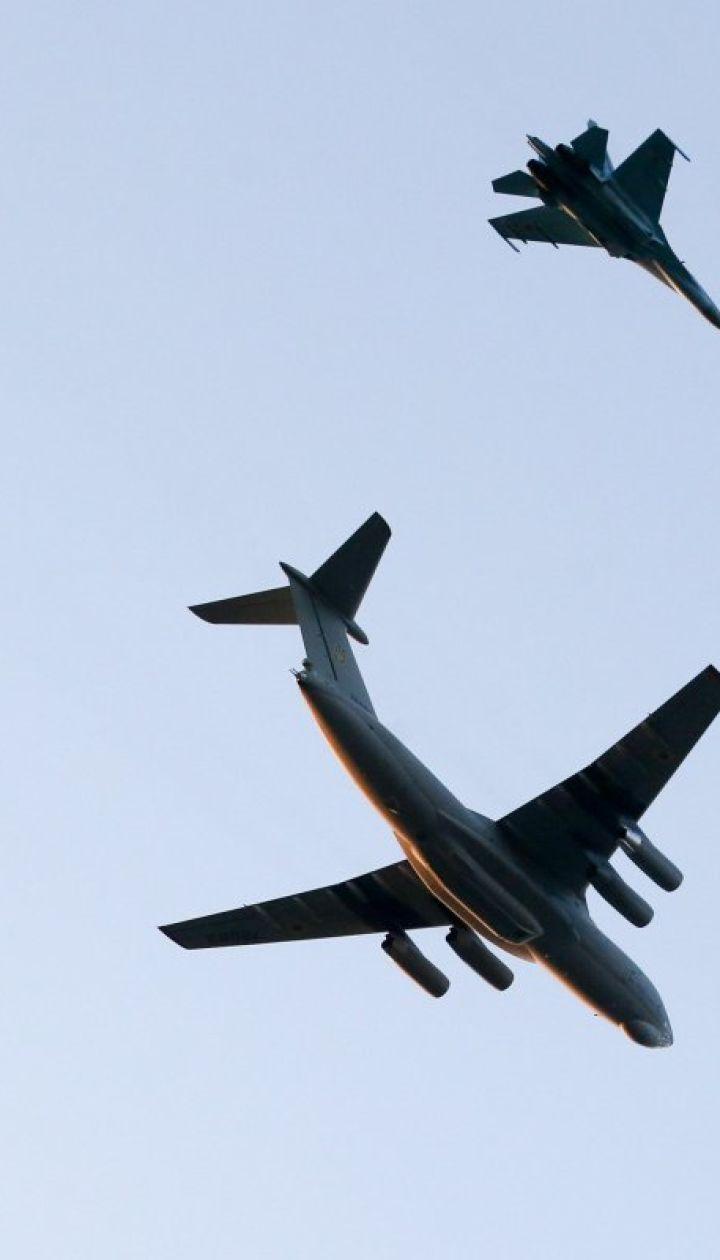 Репетиція параду до Дня Незалежності: з'явилися фото і відео літаків у небі над Хрещатиком
