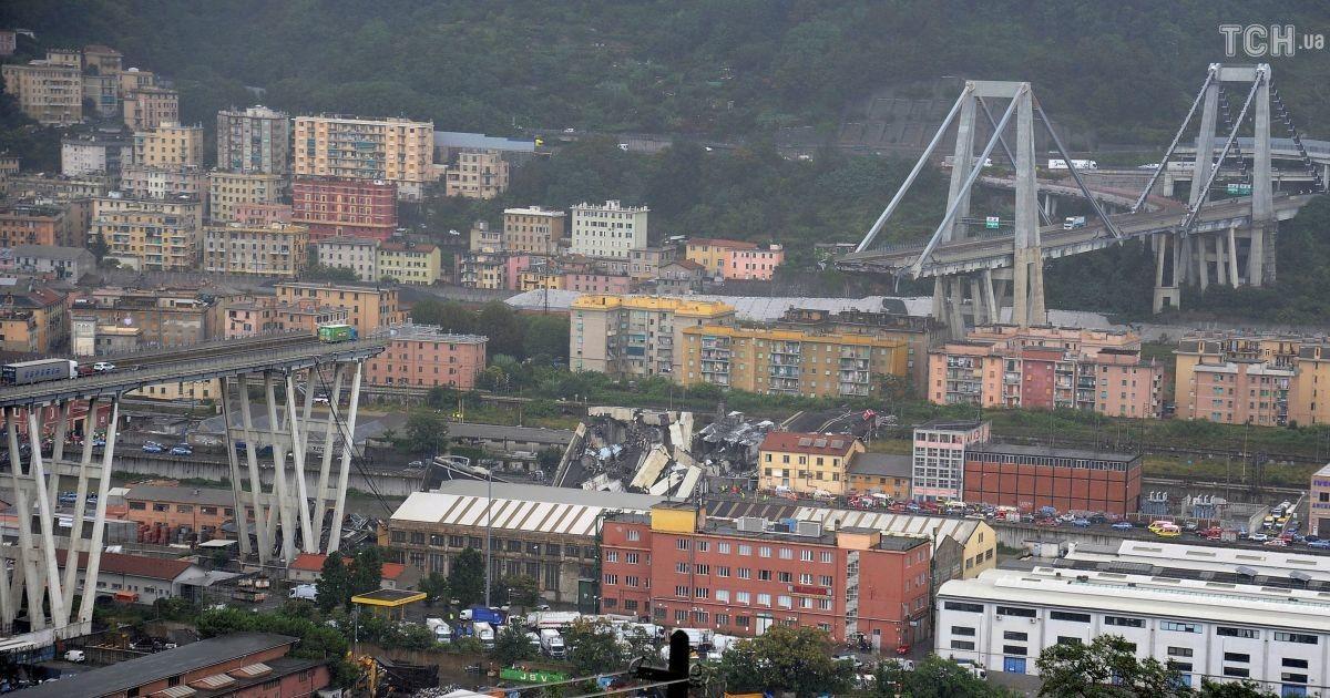 Італійська трагедія. Завали мосту в Генуї досі розбирають, кількість жертв сягнула 38