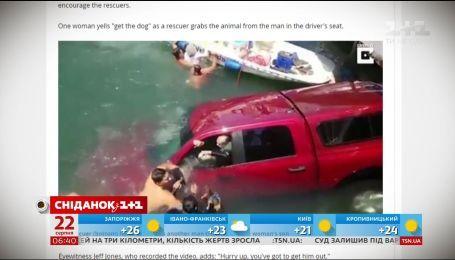 У США ледь не потонув позашляховик з літньою жінкою за кермом