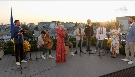 Гимн Украины в исполнении группы Шпилясті кобзарі