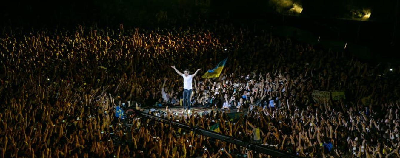 """Рекорди київського концерту """"Океану Ельзи"""": фани розповіли про гігантський прапор для Вакарчука"""