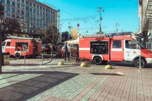 В Киеве на Крещатике горел ресторан