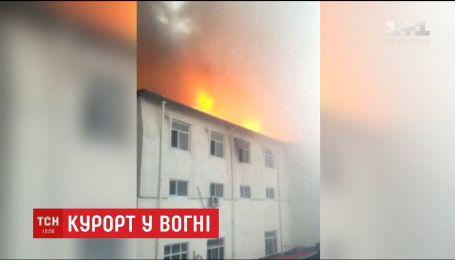 В Китае сгорел отель с горячими источниками, 19 погибших