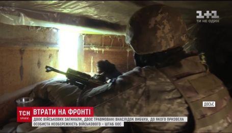 Потери на фронте. Двое военных погибли, четверо ранены в результате минно-взрывных подрывов