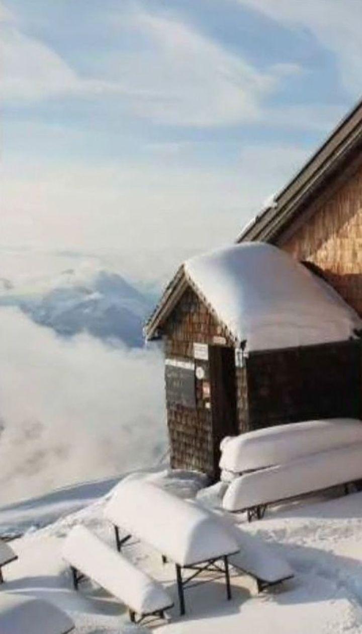 В Альпах випало до 40 сантиметрів снігу