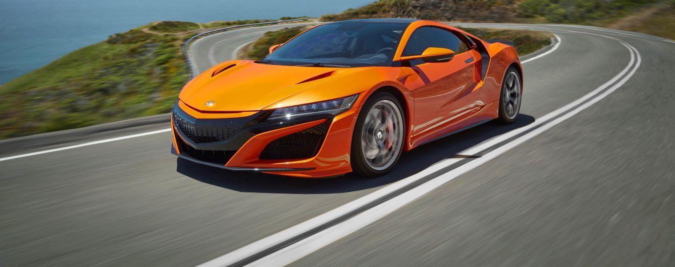 Honda представила обновленный гибридный спорткар NSX