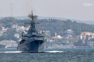 Військовий корабель РФ наблизився на небезпечну відстань до кордонів Латвії