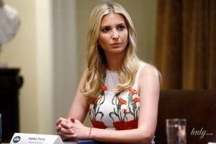 Изящная Иванка Трамп подчеркнула стройную фигуру белым платьем