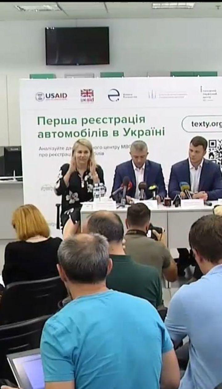 В Украине открыли данные о регистрации транспортных средств