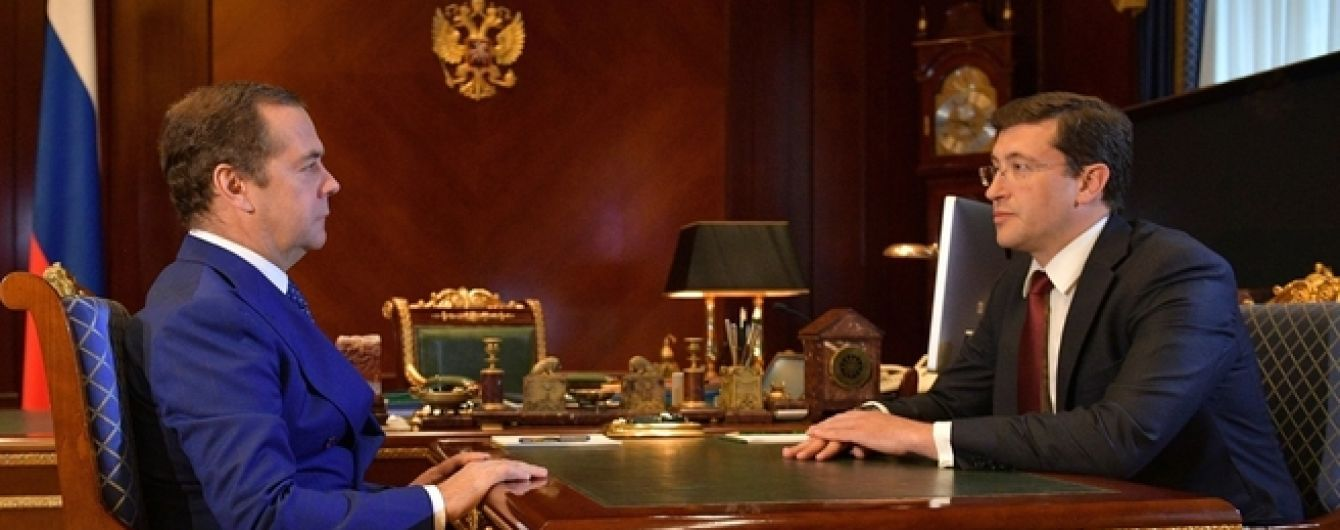 """Російський прем'єр Медведєв """"знайшовся"""" після двох тижнів відсутності на публіці"""